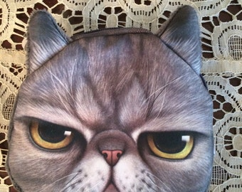 Kitty cat coin purse cat lady