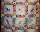 My Little Pony  Machine Embroidered Lap Quilt  Pink