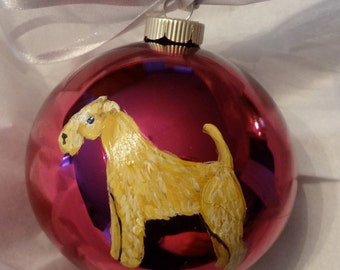 Lakeland Terrier Dog Hand Painted Christmas Ornament - Can Be Personalized with Name