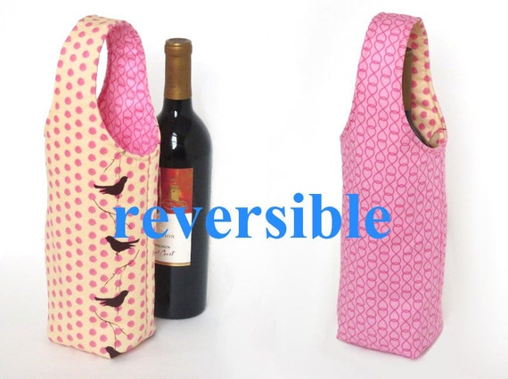 Easy No Bias Tape Wine Tote Sewing Pattern From