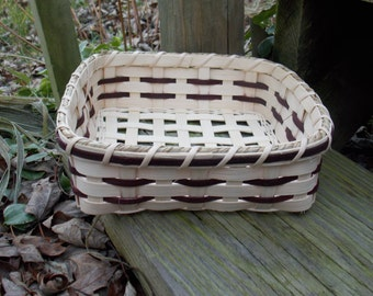 Woven Napkin Basket - Gift - Table Basket - Brown Basket - Square Basket