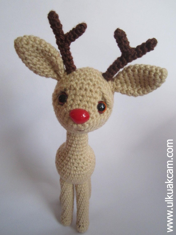 Amigurumi Pattern Rudolph the Red Nosed Reindeer