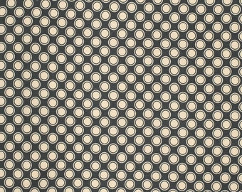 Rustic Blush by Verna Mosquera for Free Spirit Polka dot in Iron 1 yard