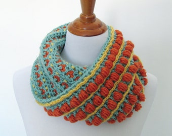 Crochet Cowl Pattern: Birthday Cake Cowl