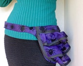 Gothic Fanny Pack, Spider Bustle Bag, Purple Hip Pouch, Travel Purse, Ready to Ship