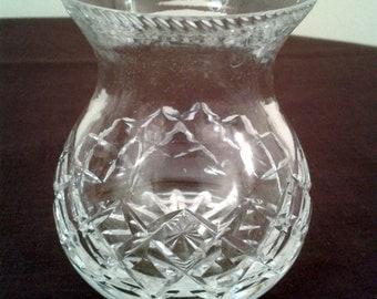 Crystal Cut Glass Bud Vase