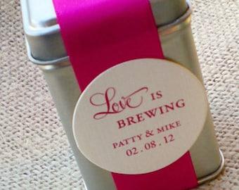 Assembled Love is Brewing Tea Tin Favor wedding - shower - party