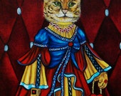 Custom Cats Portraits Animal Paintings Pet Portraits Cats in Clothes Paintings  Queen Your Royal Highness by k Madison Moore