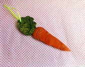 Carrot Ornament   Wooden Cutout Hand Painted  Carrot
