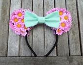 Spring Fling Floral Minnie Ears
