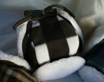 Childrens Lumberjack Hat in Black and White