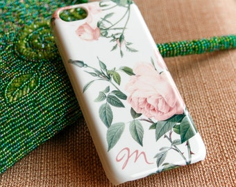 Rose iPhone 6 Case Personalized iPhone 5S Case Pink Roses iPhone Case, Floral iPhone 6S Plus, iPhone 5C Case
