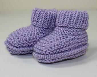 Instant Digital File pdf download knitting pattern Premature Baby Rib Cuff Booties knitting pattern