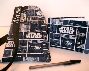 Disney StAR WARS spaceships autograph book bag with book, bag, and pen Personalized for FREE adjustable strap