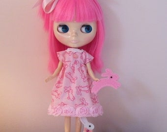Sweet Pink Spring Dress for Blythe Dolls