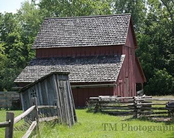 Old Barn - Missouri Barn - Barn - Deserted - Barn in Summer - Western Missouri - Fine Art Photography