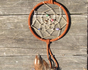 Dream Catcher 6in with Agate,Tiger eye, Malachite, Lapis, and more…