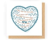 I Will Hold You In My Heart - Greeting Card (1-75C)