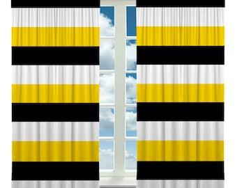 Items similar to Custom Window Curtain, Designer Tri-Color BOLD ...