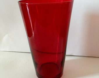 Vintage Ruby Glass Vase