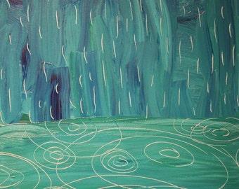 rain meets the sea - ART CARD - ecofriendly