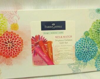 Faber Castell MIX and MATCH 34-Piece GELATOS Gift Set