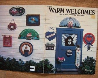 vintage 1986 craft book Warm Welcomes 12 designs sewing needlework gluing