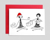 Christmas Card // Gift exchange greeting card