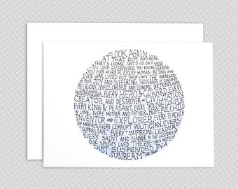 Carl Sagan pale blue dot note card set