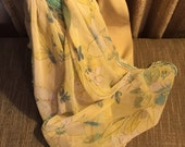 Light Yellow Floral Scarf