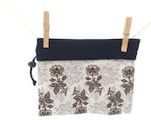 Reversible Project Bag, black, purple, flowers, Medium