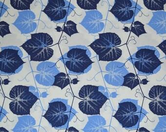 Ty Pennington Impressions - Ivy - Blue/White Cotton Fabric - YOU PICK YARDAGE - 1/2 yard to 4 yards