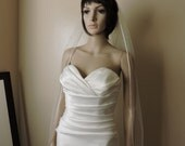 Sheer Wedding Veil with Satin Edge, Bridal Veil RE50X
