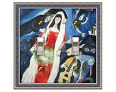 0578x- Chagall La Mariee Design - mrs butler switchplate (choose size/price from dropdown)