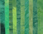 Hand Dyed Fabric LEAFY GREENS Stash Pack - 10 Fat Eighths