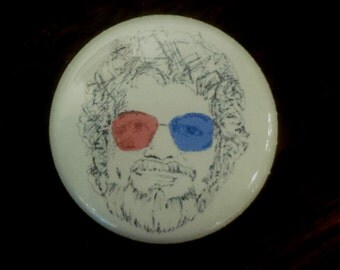 Dr. Jacoby Twin Peaks Pinback Button from Original Art by Maxx