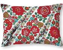 Throw Pillow Hungarian Beaded Embroidery from Kalotaszeg Photo Print 14x14 to 26x26 or oblong 20x14 Decorative Accent Pillow Housewares