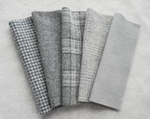 "Felted wool in a combination of Grey/Gray Neutral tones in a 8"" x 6"" or 15"" x 6"" size"