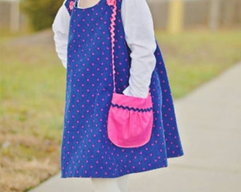 Reversible Aline Jumper Dress Pattern - Easy Easter Dress Pattern - PDF Sewing Pattern 6 Mos. - 6  Children Clothing