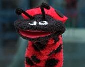 Ladybug Sock Puppet