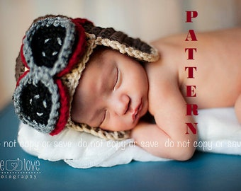 Aviator Hat Pattern, Baby Aviator Hat, Crochet Hat Patterns, Baby Hat Pattern, Crochet Pattern, Crochet Baby Hats