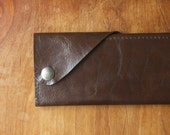 """Leather Wrap Wallet """"The Constance"""" in Chocolate Espresso"""
