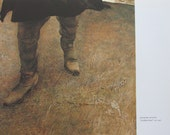 Andrew Wyeth Reproduction Print of TRODDEN WEED- Size is 8.5 x 9.25 in, 1980s Book Page