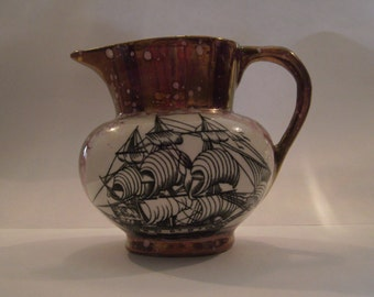 """Charming Vintage GRAYS POTTERY Stoke-On-Trent poem jug reads:  """"When this you see,...find."""""""