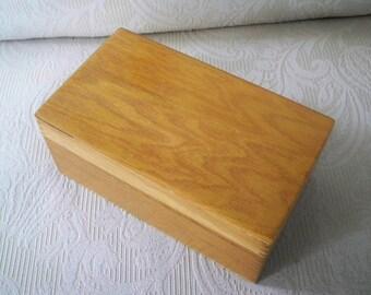 Vintage Home Office Wood File Box Wayne Novelty 1970 File Card Box