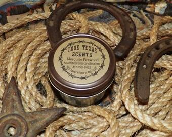 Cracklin Birch- 4 oz mason jar western Texas candle