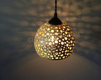 Unique Pendant lighting, Ceramic lighting, lighting, custom, pottery, ceiling light, restaurant lighting, light fixture, Ships Free to USA