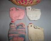 Vintage Handmade Easter Egg Cover Cozies Set of 4 Mixed Chicks
