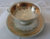 Sweet little demi cup 24 kt Gold plaited Espresso cup Mocca cup 1890s Gold lace