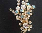 Vintage Signed Brooch Pin-Rhinestones 3 sizes